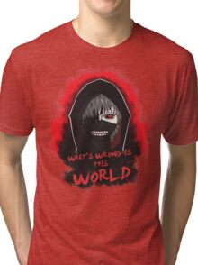 This world is wrong! Tri-blend T-Shirt