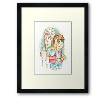 Doc & Marty Framed Print