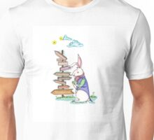 White Rabbit lost in the wonderland Unisex T-Shirt