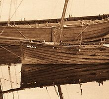 An Attractive Pair In Sepia ~ Tarbert Harbour, Scotland by artwhiz47