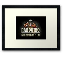 Pacquiao vs Mayweather Framed Print