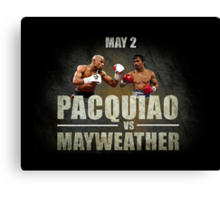 Pacquiao vs Mayweather Canvas Print