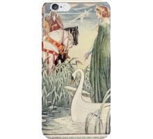 King Arthur's Knights - The Tale Retold for Boys and Girls by Sir Thomas Malory, Illustrated by Walter Crane 55 - King Arthur Asks the Lady of the Lake for the Sword Excalibur iPhone Case/Skin