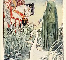 King Arthur's Knights - The Tale Retold for Boys and Girls by Sir Thomas Malory, Illustrated by Walter Crane 55 - King Arthur Asks the Lady of the Lake for the Sword Excalibur by wetdryvac