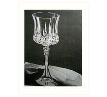 Wineglass & Napkin Art Print