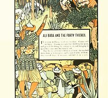 The Forty Thieves by Walter Crane 1898 6 - Ali Baba and the Forty Thieves by wetdryvac