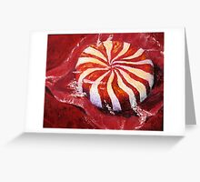 Red Peppermint Greeting Card