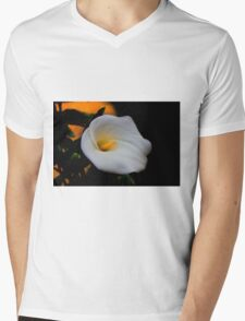 White Is The Color Of Peace II Mens V-Neck T-Shirt