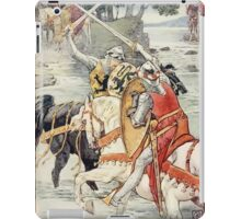 King Arthur's Knights - The Tale Retold for Boys and Girls by Sir Thomas Malory, Illustrated by Walter Crane 109 - Beaumains Wins the Fight at the Ford iPad Case/Skin