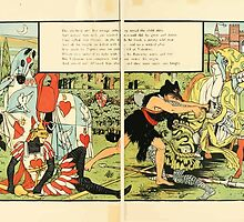 Cinderella Picture Book containing Cinderella, Puss in Boots, and Valentine and Orson Illustrated by Walter Crane 1911 48 - The She Bear and her Savage Cubs by wetdryvac