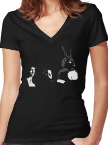 Donnie, Gretchen, Frank Women's Fitted V-Neck T-Shirt
