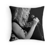 Putting the soul in to the music Throw Pillow
