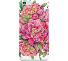 bouquet of peony flowers with decoration of leaves and branches 2 iPhone Case/Skin
