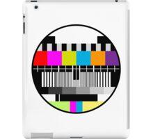 Television Color Test iPad Case/Skin