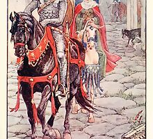 King Arthur's Knights - The Tale Retold for Boys and Girls by Sir Thomas Malory, Illustrated by Walter Crane 179 - Ser Geraint and the Lady Enid in the Deserted Roman Town by wetdryvac