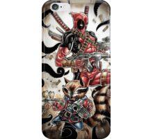 rocket deadpool iPhone Case/Skin