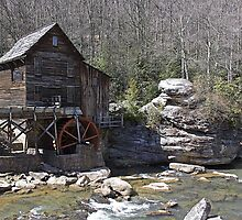 Glade Creek Grist Mill in Spring by Lisawv