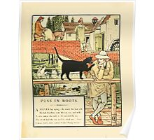 Cinderella Picture Book containing Cinderella, Puss in Boots, and Valentine and Orson Illustrated by Walter Crane 1911 15 - The Cat and the Will Poster