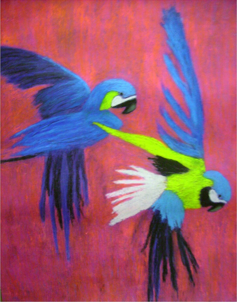 Blue Macaws by artyratty