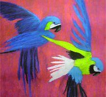 Blue Macaws by artyratty