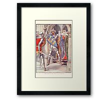 King Arthur's Knights - The Tale Retold for Boys and Girls by Sir Thomas Malory, Illustrated by Walter Crane 345 - The Fight in the Queen's Anti Chamber Framed Print