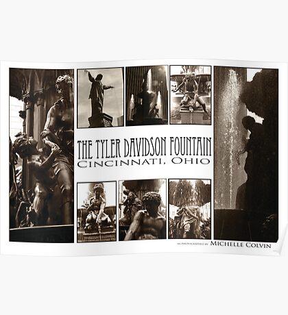 Tyler Davidson Fountain Detail Collage Poster