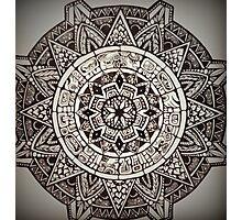 Aztec Wheel Photographic Print