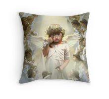 the pouting lil cherub Throw Pillow