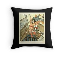 Princess Belle-Etoille 1909 Walter Crane 18 - Falling or The Fall Throw Pillow