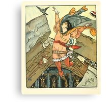 Princess Belle-Etoille 1909 Walter Crane 18 - Falling or The Fall Canvas Print