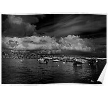 Monochrome Study St Paul's Bay Malta Poster
