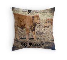 Hi,My Friend Throw Pillow