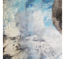 Morning Mist III,Blue Abstract Painting print,white blue Giclee Print,Abstract Painting,blue white Giclee,Large Abstract Painting,white Blue Photographic Print