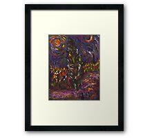 The Cyprus Tree My Version Framed Print