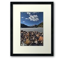 Frozen Smith and MoreHouse reservoir in Utah Framed Print