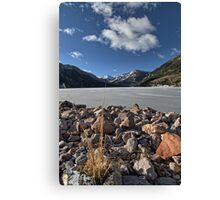 Frozen Smith and MoreHouse reservoir in Utah Canvas Print