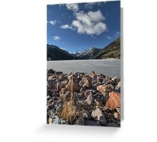 Frozen Smith and MoreHouse reservoir in Utah Greeting Card