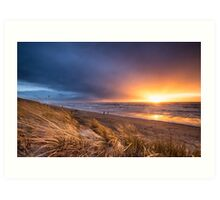 Stormy sunset Art Print
