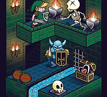 Through the dungeon by Ursula Lopez