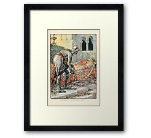 King Arthur's Knights - The Tale Retold for Boys and Girls by Sir Thomas Malory, Illustrated by Walter Crane 91 - Sir Lancelot in the Chapel Perilous Framed Print