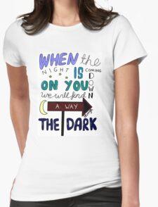 One Direction Through The Dark Lyrics in colour T-Shirt