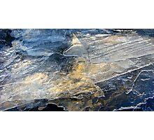 Golden Ice Photographic Print