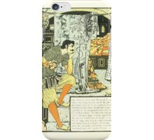 The Forty Thieves by Walter Crane 1898 18 - Then Went To Bed iPhone Case/Skin