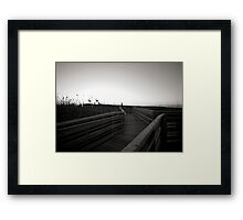 Boardwalk on Myrtle Beach, SC Framed Print