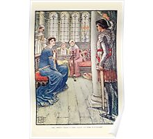 King Arthur's Knights - The Tale Retold for Boys and Girls by Sir Thomas Malory, Illustrated by Walter Crane 251 - Sir Awen Greets the Lady of the Fountain Poster