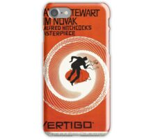 Theatrical poster of Vertigo. Art by Saul Bass. iPhone Case/Skin