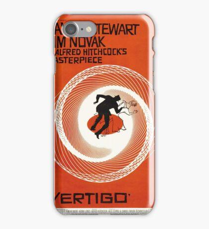 Theatrical poster of Vertigo. Art by Saul Bass. iPhone Case/Skin
