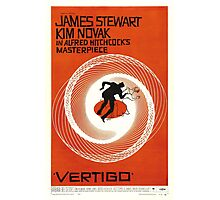 Theatrical poster of Vertigo. Art by Saul Bass. Photographic Print