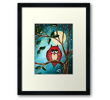 Who! Framed Print