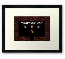 Legend of Zelda: Take this! Framed Print